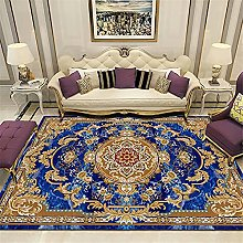 Kunsen rug for bedroom Bedroom blue carpet low