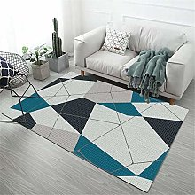 Kunsen rug for bedroom Blue Gray Carpet is