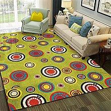 Kunsen Rug For Bedroom Yellow creative geometric