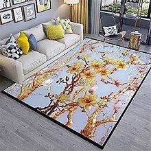 Kunsen Rug For Living Room Flower pattern modern