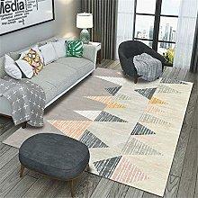 Kunsen Small Area Rugs Gray triangle salon carpet