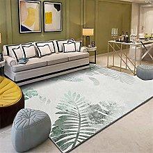 Kunsen Washable Rugs For Living Room Gray white