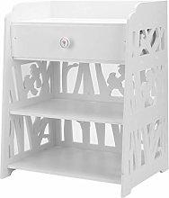 Kunyoxiu Bedside Table Cabinet Wooden Cabinet