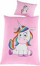 Kuscheli® unicorn baby bed linen set,