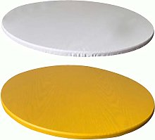 KYJSW 2 Pieces Round Tablecloth, Elastic Polyester