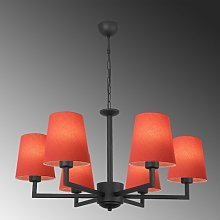 Kyle 6-Light Shaded Chandelier Marlow Home Co.