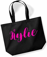 Kylie Personalised Shopping Tote in Black Colour