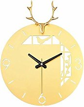 Kyman Nordic Deer Decorative Copper Quartz Clock