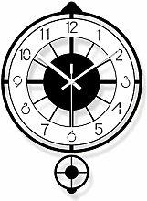 Kyman Wall clock Black And White Acrylic Hollow