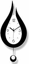 Kyman Wall clock Trendy Minimalist Black And White