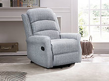 Kyoto Baxter Recliner Chair Twin Motor in Grey