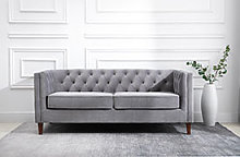 Kyoto Isabel Chesterfield 2 Seater Sofa in Grey