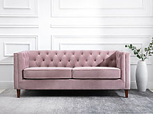 Kyoto Isabel Chesterfield 2 Seater Sofa in Heather