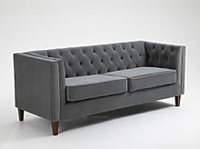 Kyoto Isabel Chesterfield Chair in Grey