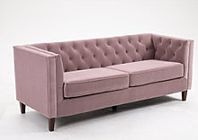 Kyoto Isabel Chesterfield Chair in Heather