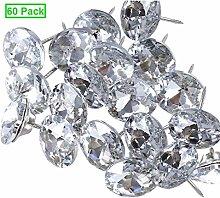 Kyrio 60PCS Rhinestone Sew Buttons Diamond Crystal