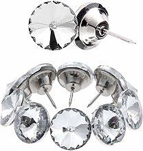 Kyrio 60PCS Rhinestone Tacks Crystal Buttons Clear
