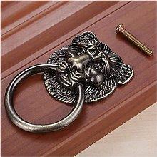 L.BAN 74x45mm Lion Head Antique Handle Door
