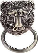 L.BAN Lion Head Antique Handle Door Knocker