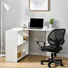 L-Computer Desk with Large Storage Space Study
