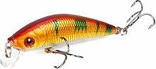 L-MEIQUN, 1pc 8g 7cm Minnow Lure Sea Fishing