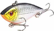 L-MEIQUN, 1pc Winter Fishing Lures Hard Bass Bait