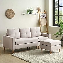 L Sectional Sofa Couch, 3 Seater Sofa, Living Room