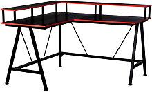 L-Shape Corner Gaming Desk Computer Table w/