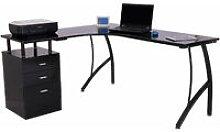 L-Shape Designer Computer Desk PC Workstation Home