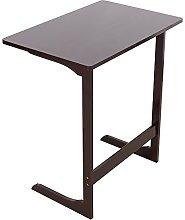 L-shaped Bamboo Sofa Side Table Portable Laptop