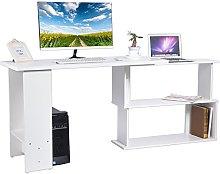 L-shaped Computer Desk, Large Corner PC Laptop
