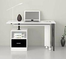 L-Shaped Computer Desk Symple Stuff Colour: White