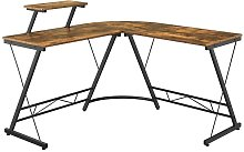 L-Shaped Computer Desk with Monitor Stand Computer