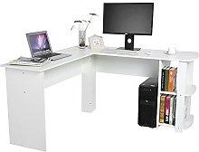 L-Shaped Corner Desk, L-Shaped Chipboard, Rotating