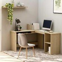 L-Shaped Corner Desk Sonoma Oak 120x140x75 cm