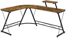 L-Shaped Desk with Monitor Stand Reversible