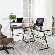 L-Shaped Gaming Desk Corner Computer Desk PC Table