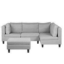 L Shaped Modern Modular 4 Seat Corner Sofa Ottoman