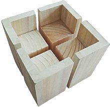L-Shaped Wood Furniture Riser,Heavy Duty Square