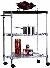 L-YINGZON Trolley Kitchen Living Room Stainless