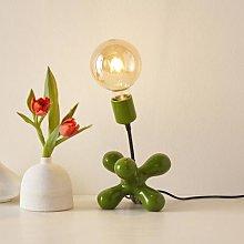 L181 ceramic table lamp, flexible arm glossy green