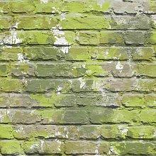 L33504 Camouflage Brick Wallpaper, Green - Muriva
