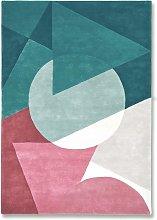 La Coupeé Teal Rug - 120 x 180 cm / Teal / Wool