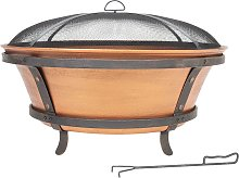 La Hacienda Westonbirt Cast Iron Firepit, Copper