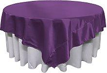 LA Linen Bridal Satin Square Tablecloth 72-Inch,