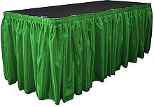 LA Linen Bridal Satin Table Skirt 14 Foot by
