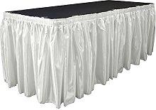 LA Linen Bridal Satin Table Skirt 21 Foot by