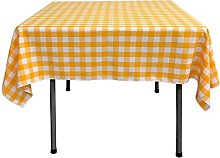 LA Linen Checkered Overlay Tablecloth, 58 by