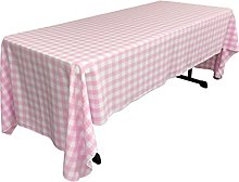 LA Linen Checkered Tablecloth, 60 by 120-Inch,