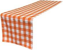 LA Linen GINGHAM Chequered Table Runner,